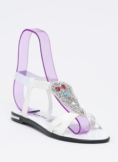 Shoes1441 Sandalet Beyaz